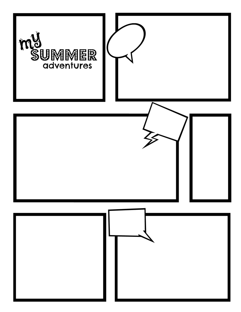 comics strip template