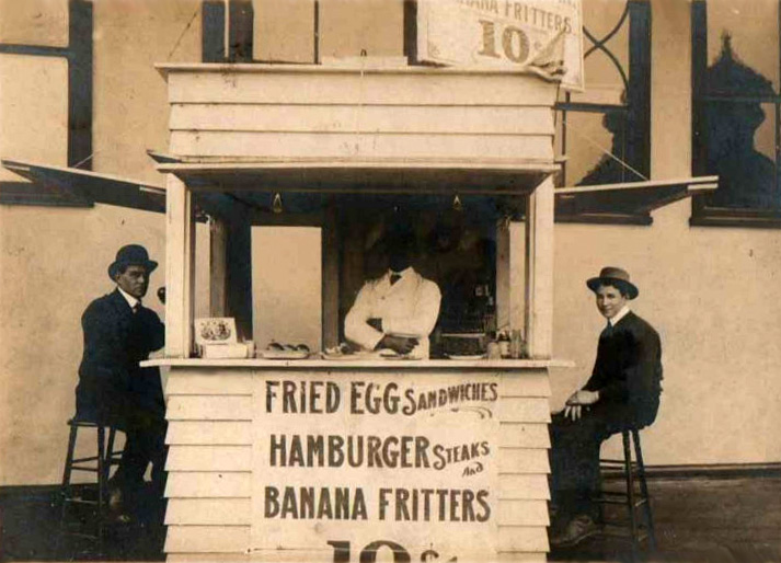 Photo is not of a Paducah hamburger stand, but one similar to those found at the turn of the 20th century.
